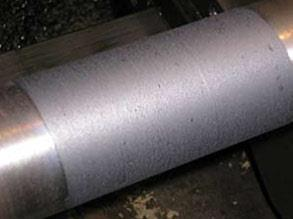 Shaft repaired using Belzona 1131 (Bearing Metal)